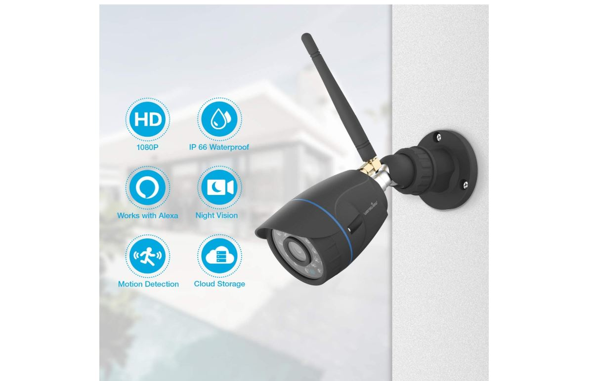 Wansview 1080P Waterproof WiFi Home Security Surveillance Bullet Camera