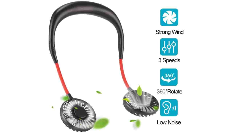 FIGROL Neckband Portable Fan