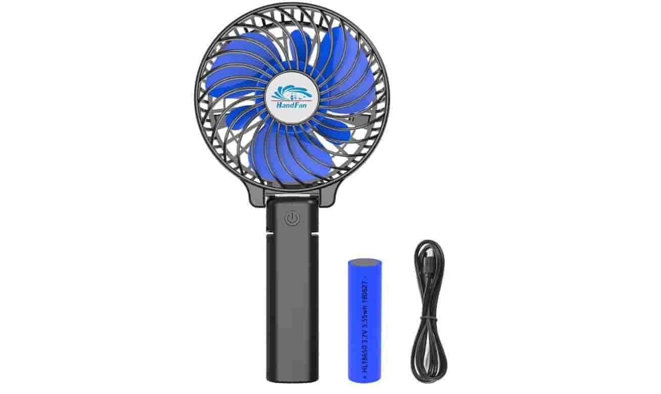 HandFan Handheld Fan Battery Operated Small Portable Fan